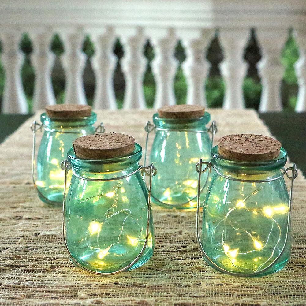 Blue Fairy Light Jars 4ct Image #3