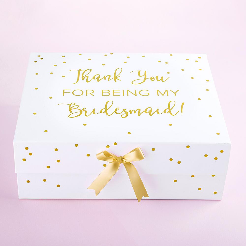 White & Gold Bridesmaid Gift Box Image #1
