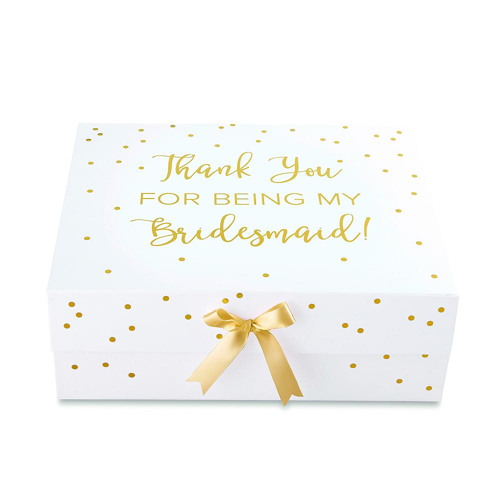 White & Gold Bridesmaid Gift Box Image #2