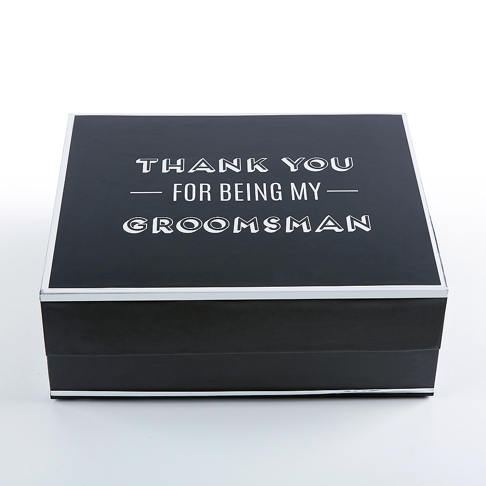Nav Item for Black & Silver Groomsman Gift Box Image #1