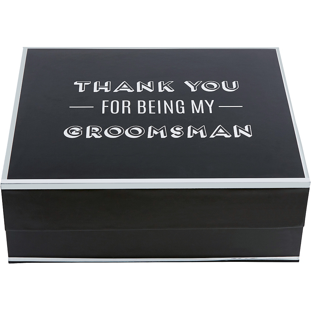 Nav Item for Black & Silver Groomsman Gift Box Image #3