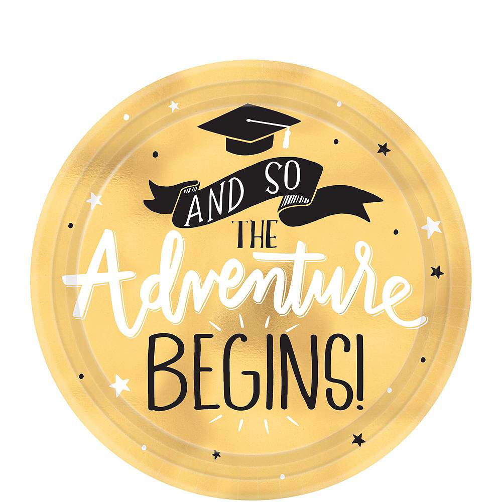 The Adventure Begins Graduation Tableware Kit for 32 Guests Image #2