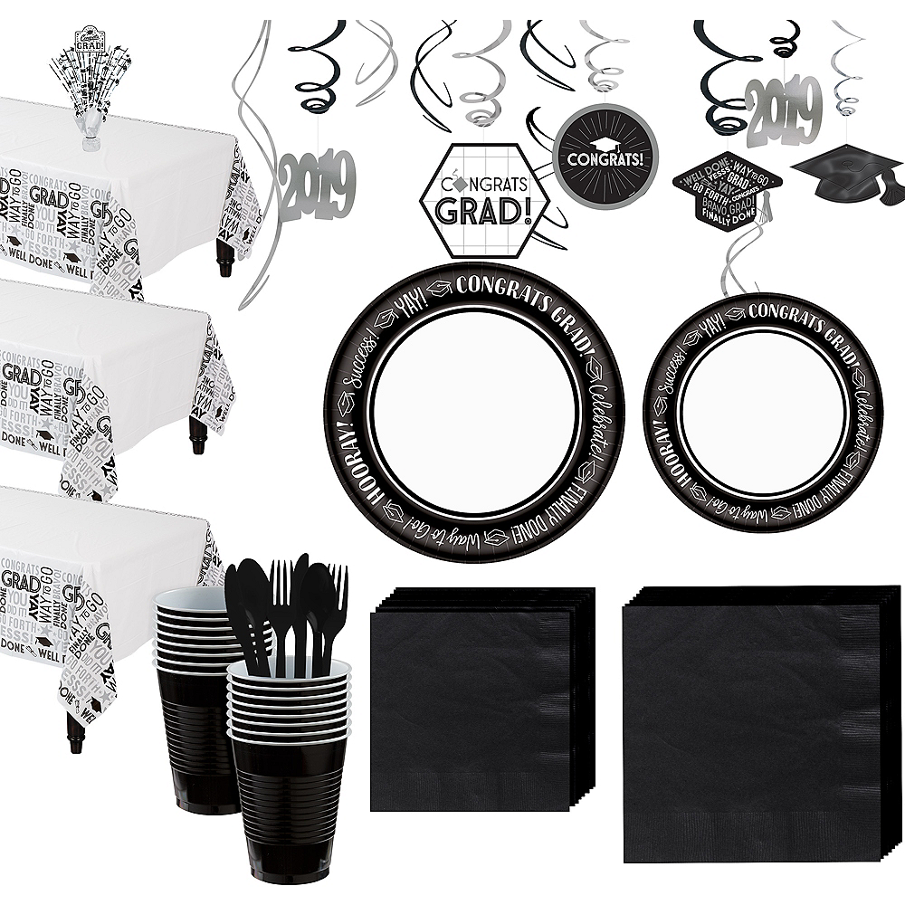 Celebrate Success Graduation Tableware Kit for 80 Guests Image #1