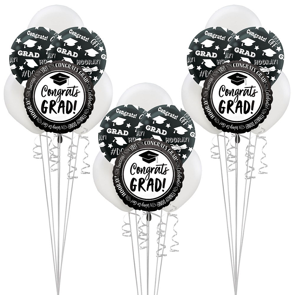 Nav Item for Celebrate Success Graduation Silver Balloon Kit Image #1