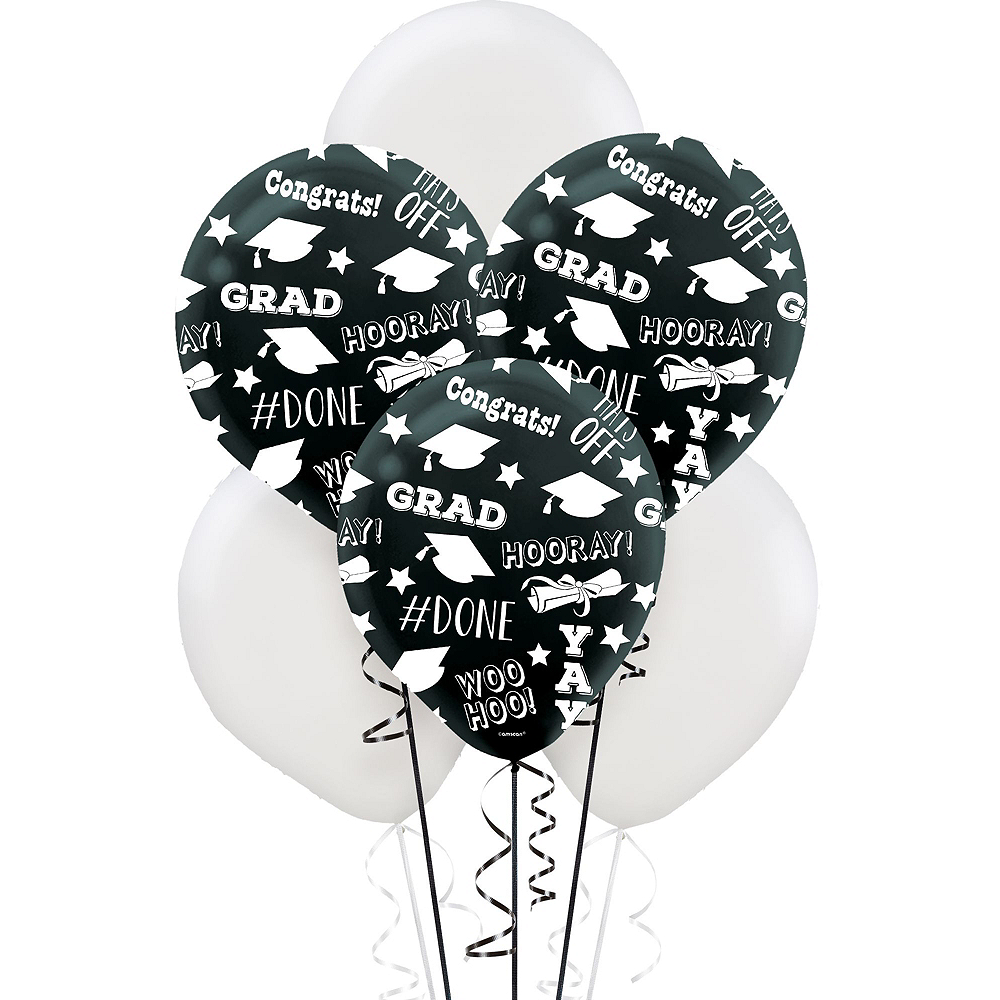 Nav Item for Celebrate Success Graduation Silver Balloon Kit Image #3