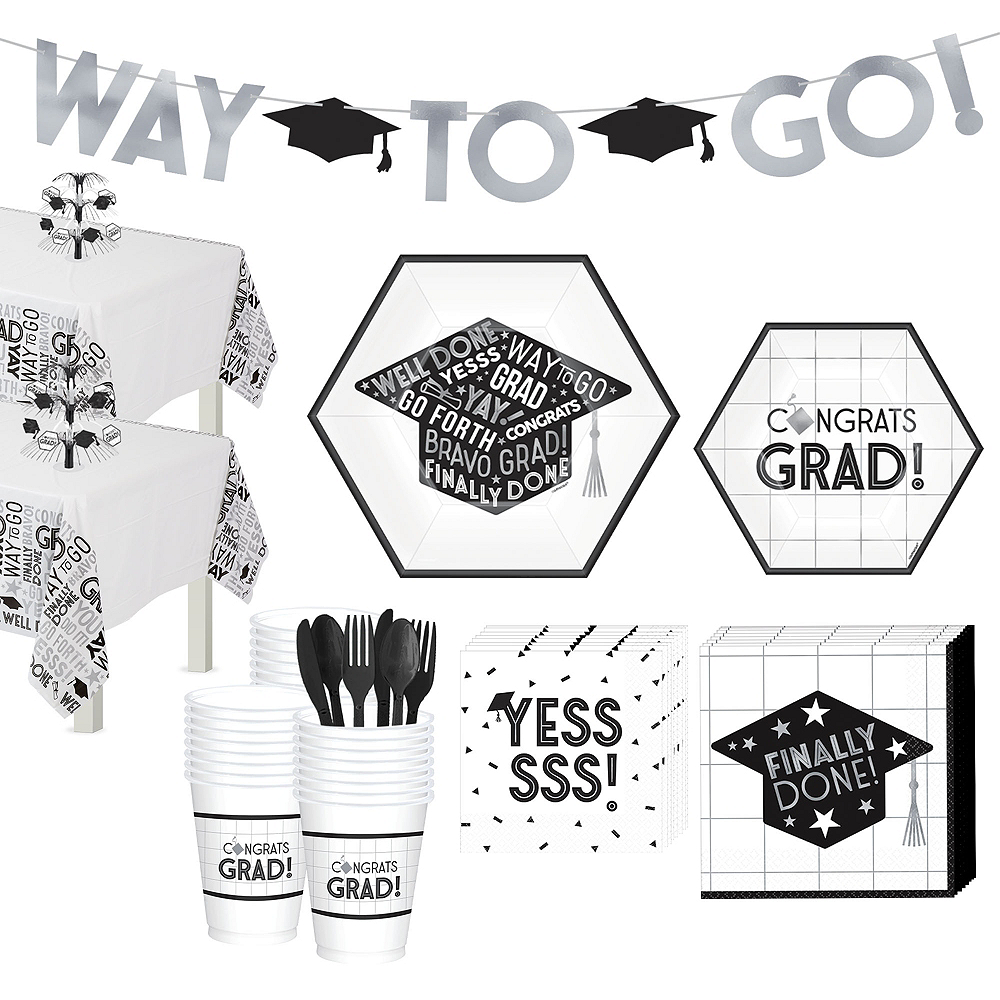 Grid Graduation Hexagon Tableware Kit for 36 Guests Image #1