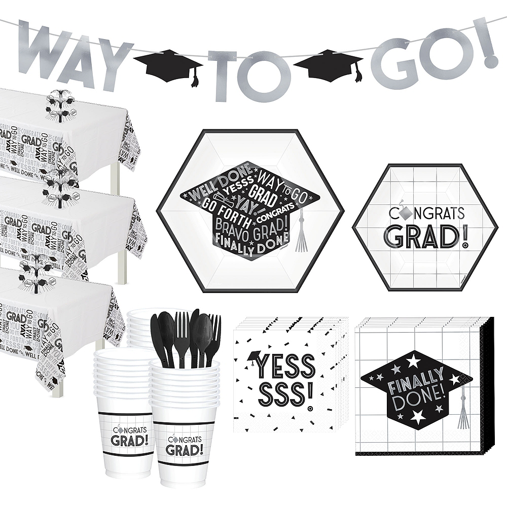 Grid Graduation Hexagon Tableware Kit for 54 Guests Image #1