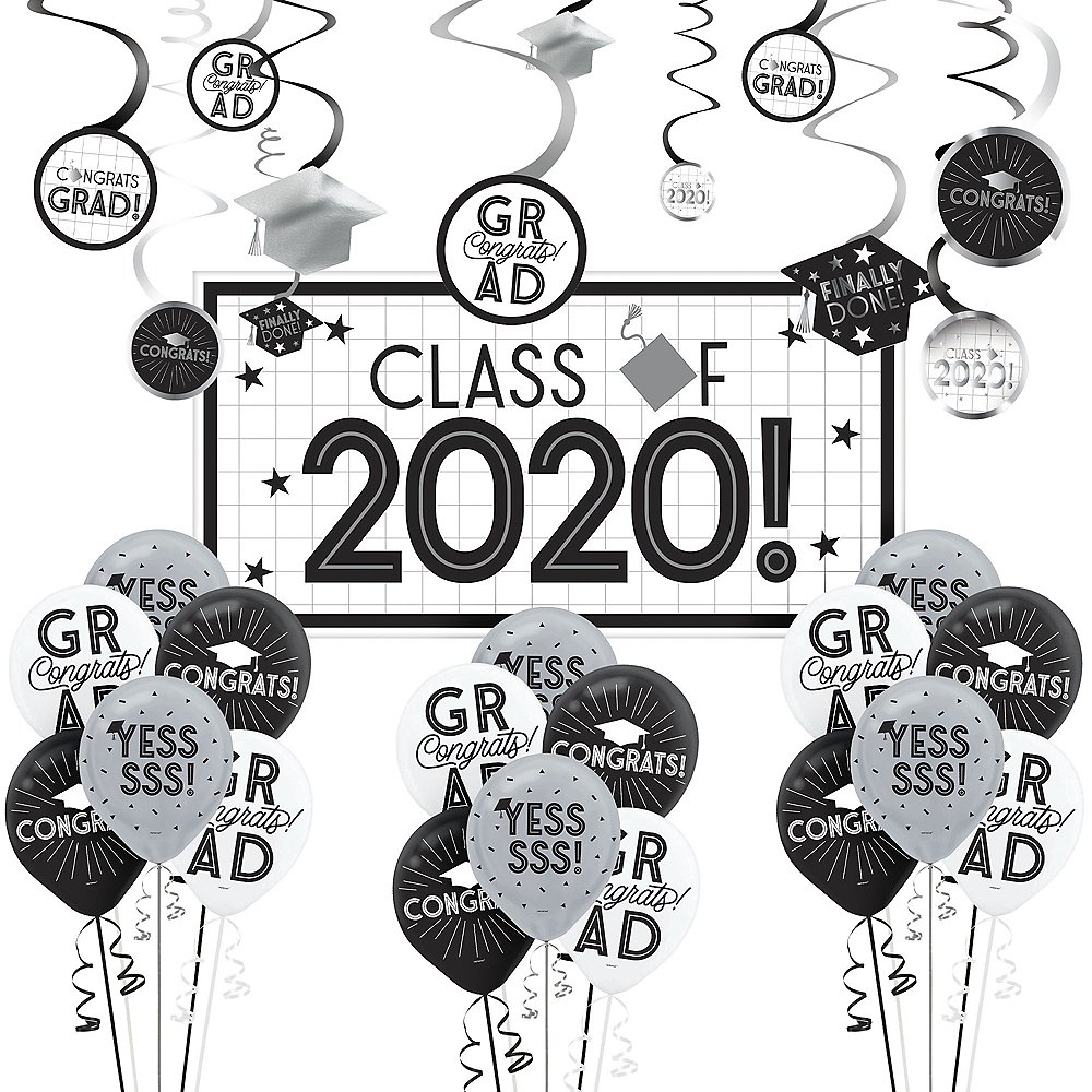 Grid Graduation Hexagon Room Decorating Kit Image #1