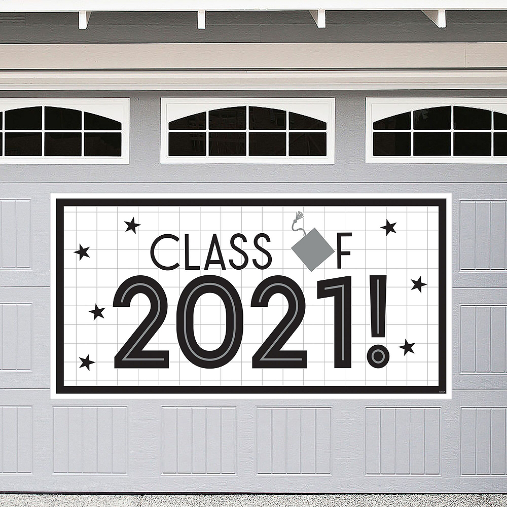 Grid Graduation Hexagon Room Decorating Kit Image #2
