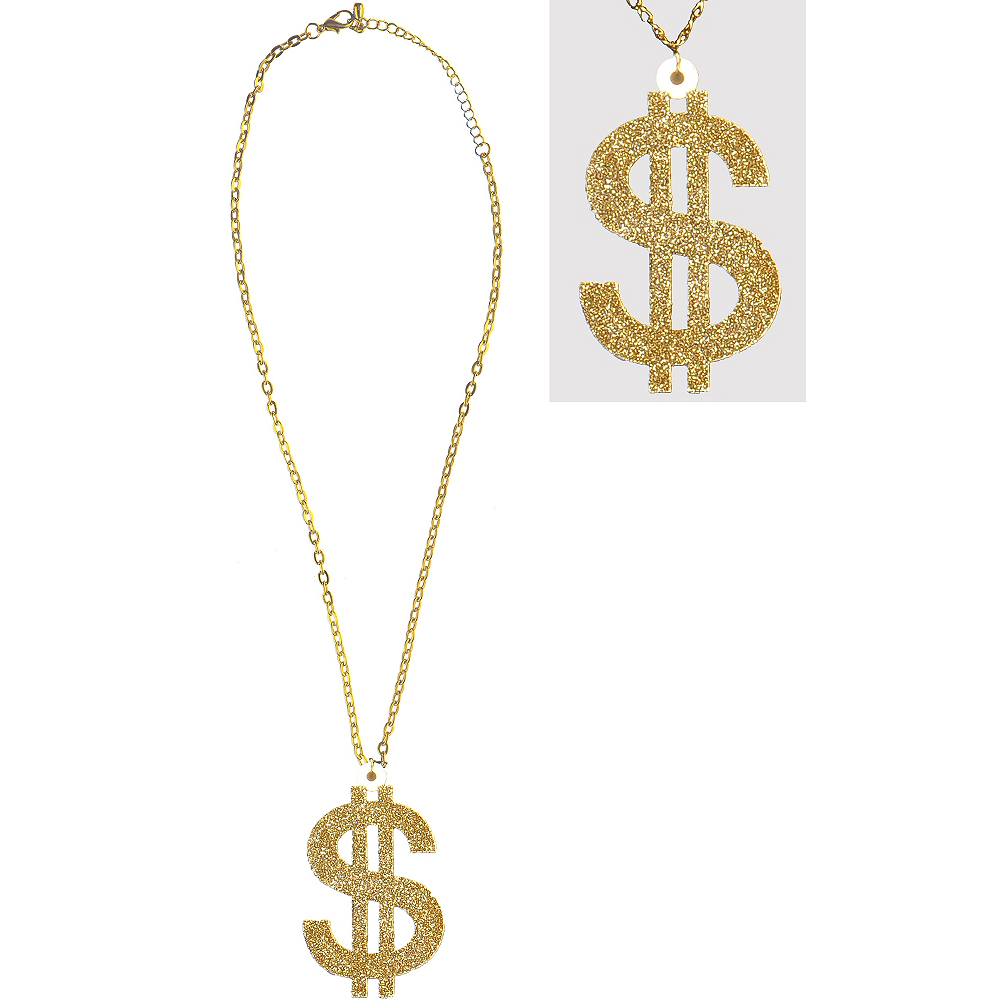 Nav Item for Big Daddy Dollar Sign Necklace Image #1