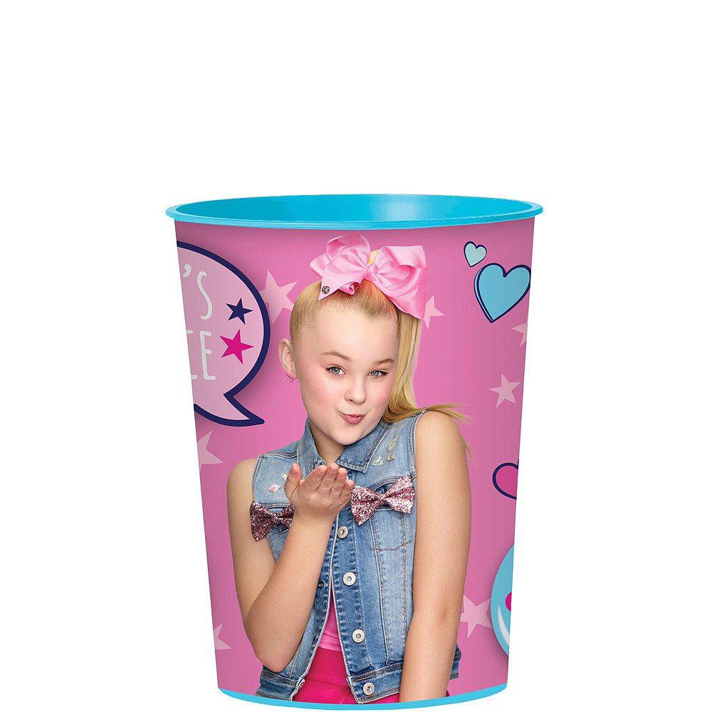 JoJo Siwa Tableware Kit for 16 Guests, 110 Pieces, Includes Table Cover, Plates, Napkins, Cups, and Matching Utensils Image #8