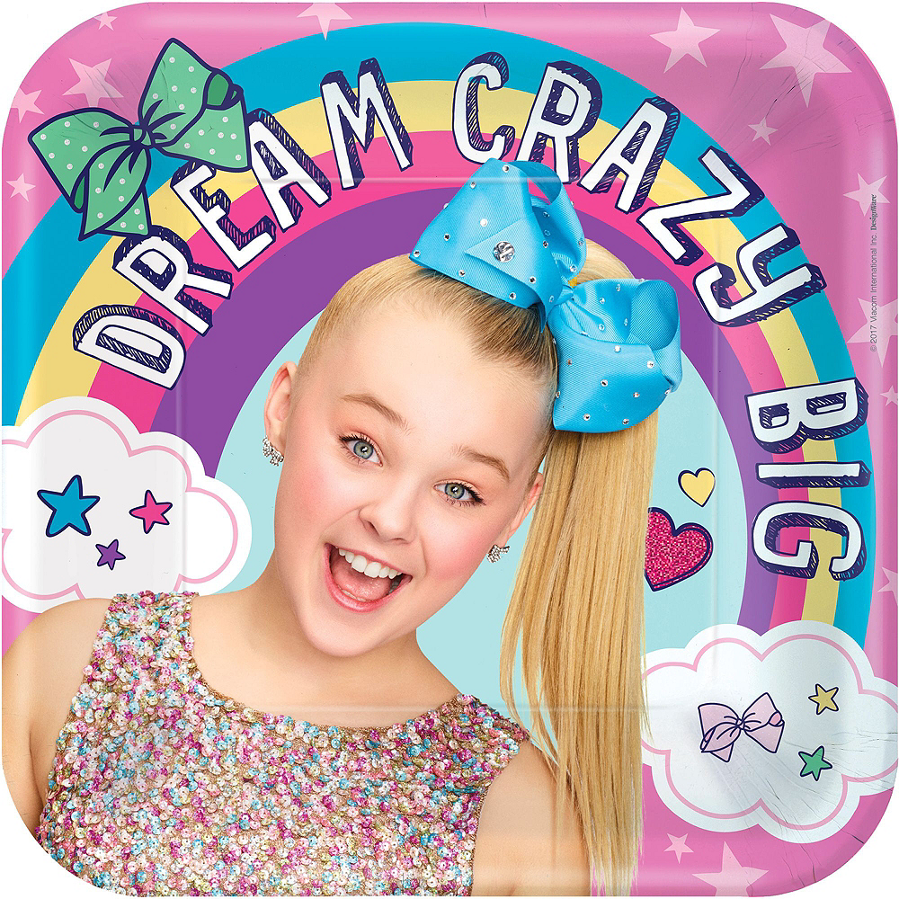 JoJo Siwa MEGA Birthday Party Kit for 16 Guests, 94 pieces, Includes Plates, Napkins, Cups, Tablecover, Favor Cup, Photo Props, Tattoos, and Balloons Image #2
