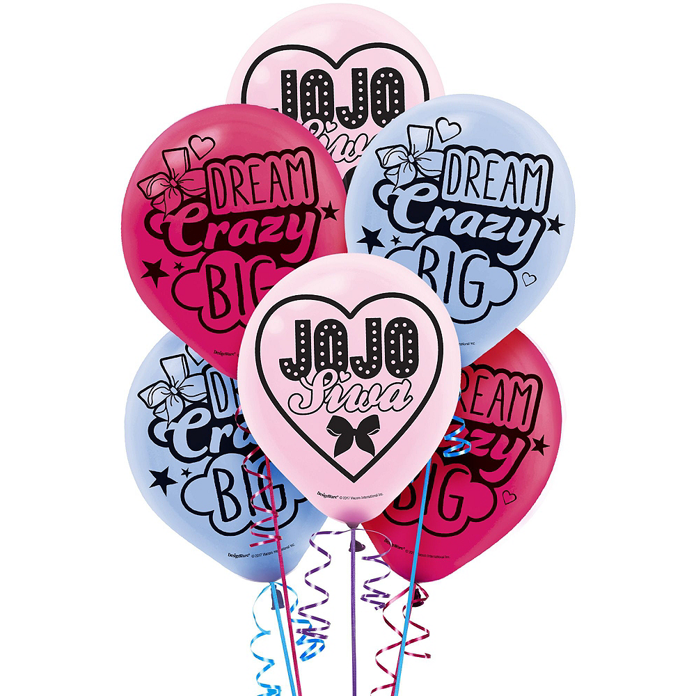 JoJo Siwa MEGA Birthday Party Kit for 16 Guests, 94 pieces, Includes Plates, Napkins, Cups, Tablecover, Favor Cup, Photo Props, Tattoos, and Balloons Image #7