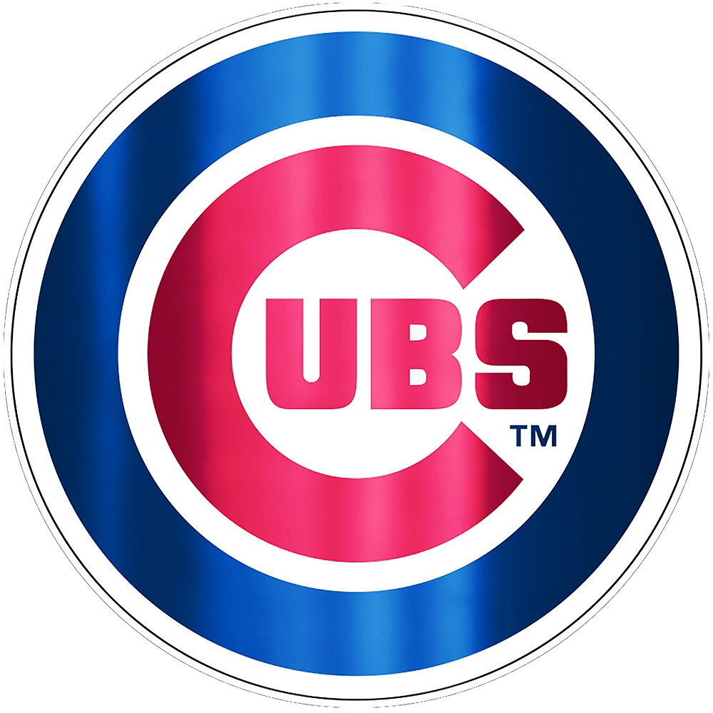 Nav Item for Metallic Chicago Cubs Sticker Image #1