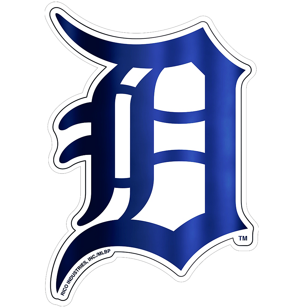 Metallic Detroit Tigers Sticker Image #1