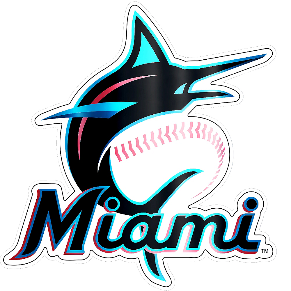 Metallic Miami Marlins Sticker Image #1