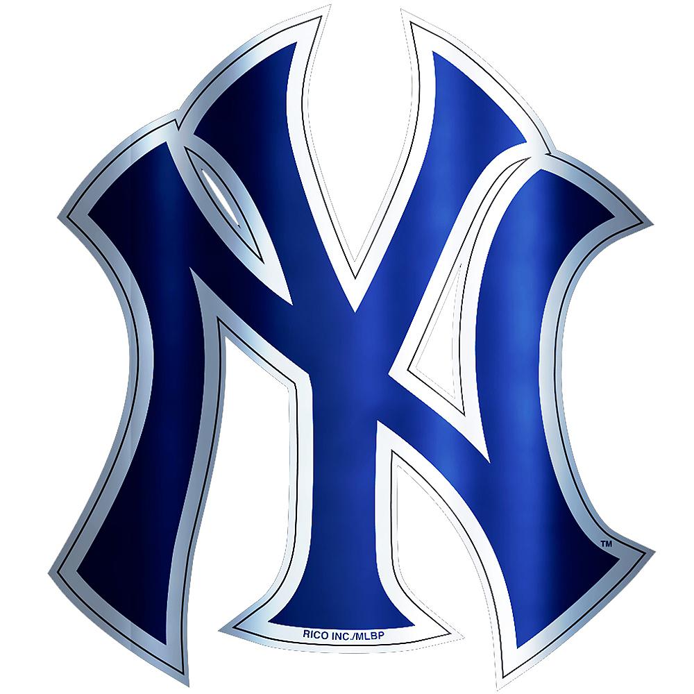 Metallic New York Yankees Sticker Image #1
