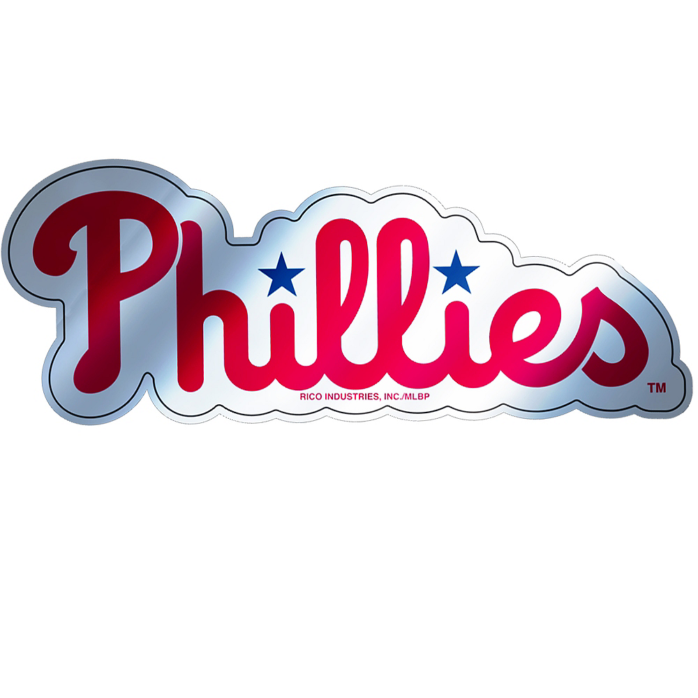 Metallic Philadelphia Phillies Sticker Image #1
