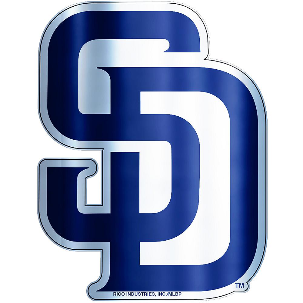 Metallic San Diego Padres Sticker Image #1