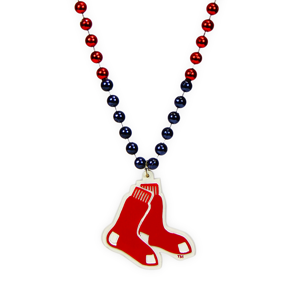 Boston Red Sox Pendant Bead Necklace Image #1