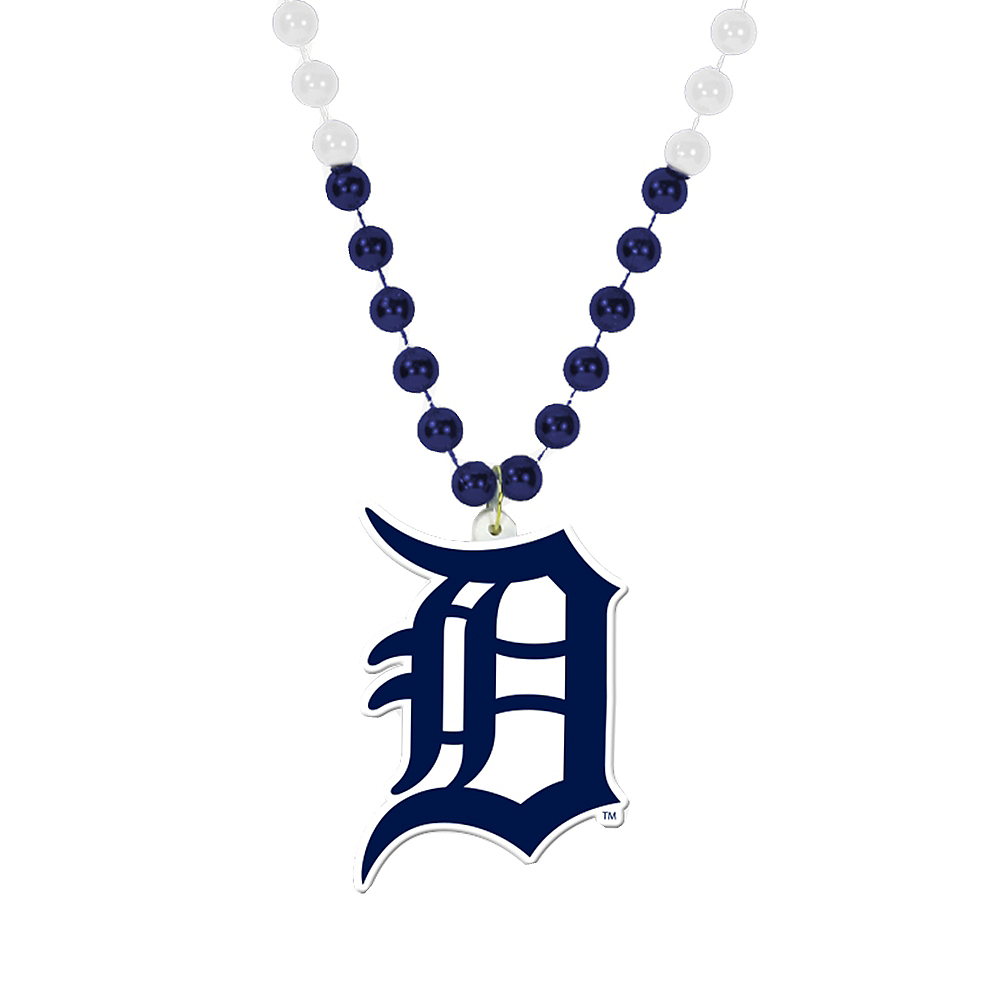 Nav Item for Detroit Tigers Pendant Bead Necklace Image #1