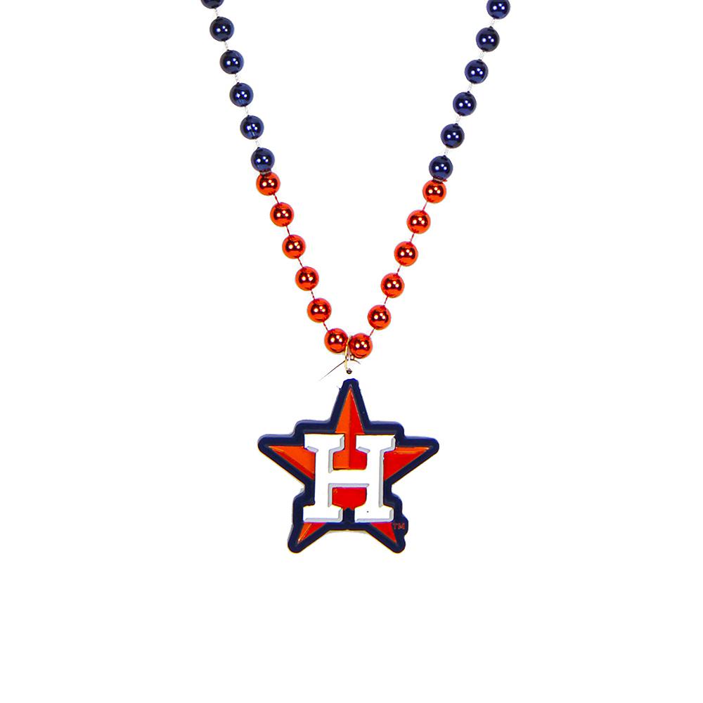 Houston Astros Pendant Bead Necklace Image #1
