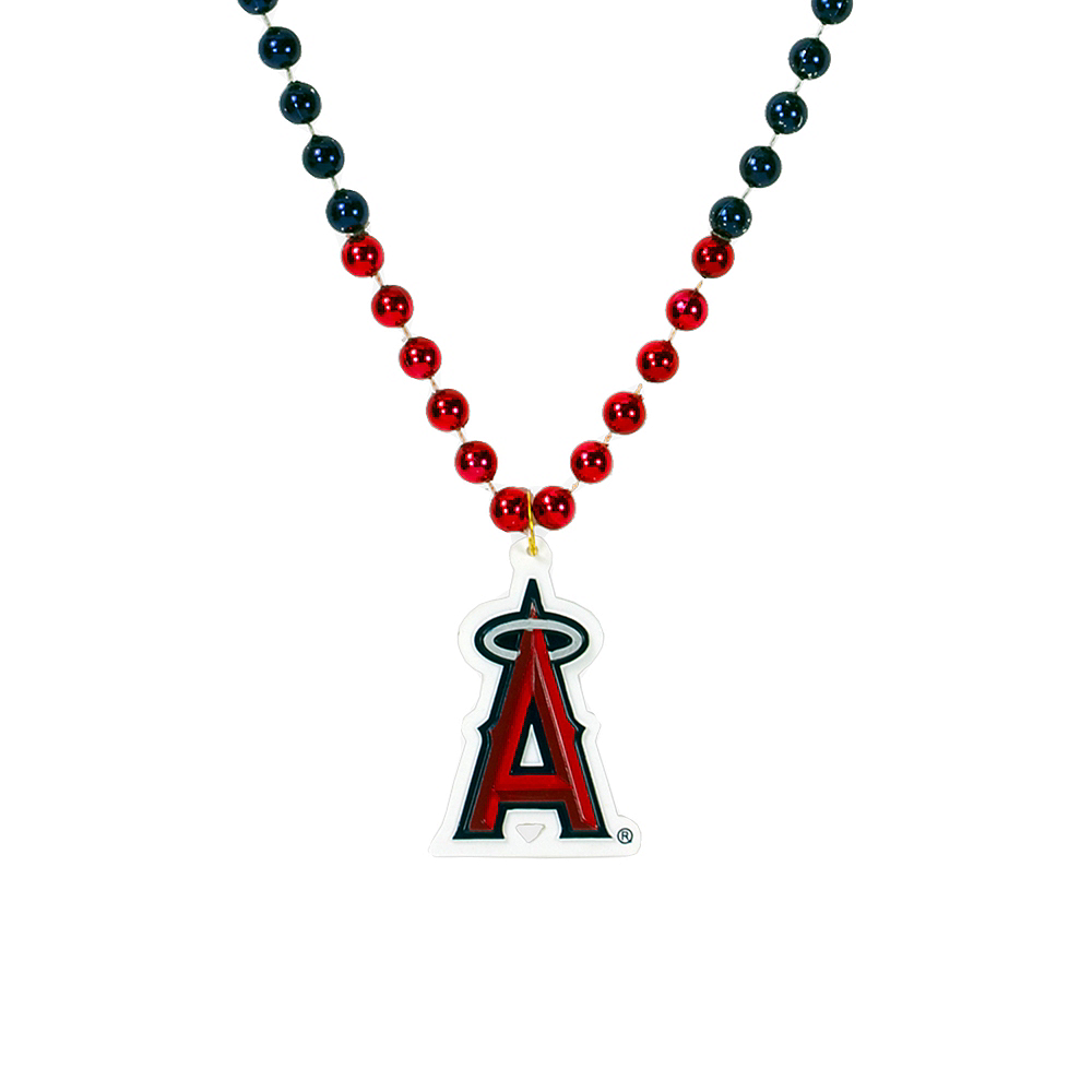 Nav Item for Los Angeles Angels Pendant Bead Necklace Image #1