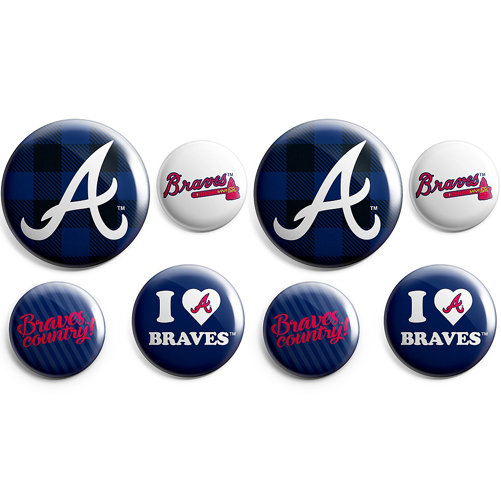Atlanta Braves Buttons 8ct Image #1
