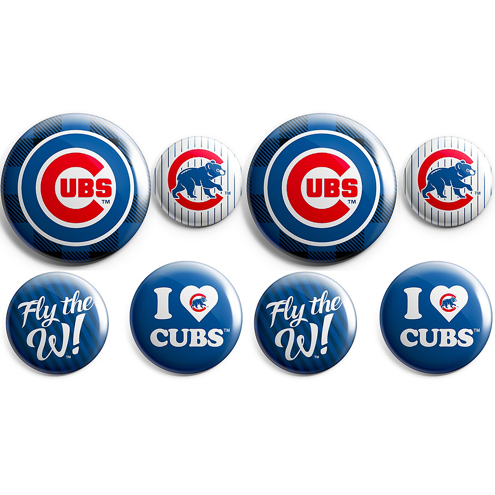 Chicago Cubs Buttons 8ct Image #1