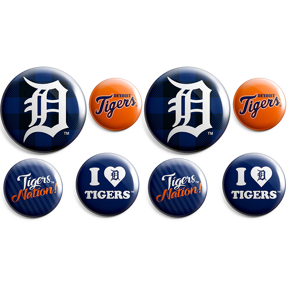 Detroit Tigers Buttons 8ct Image #1