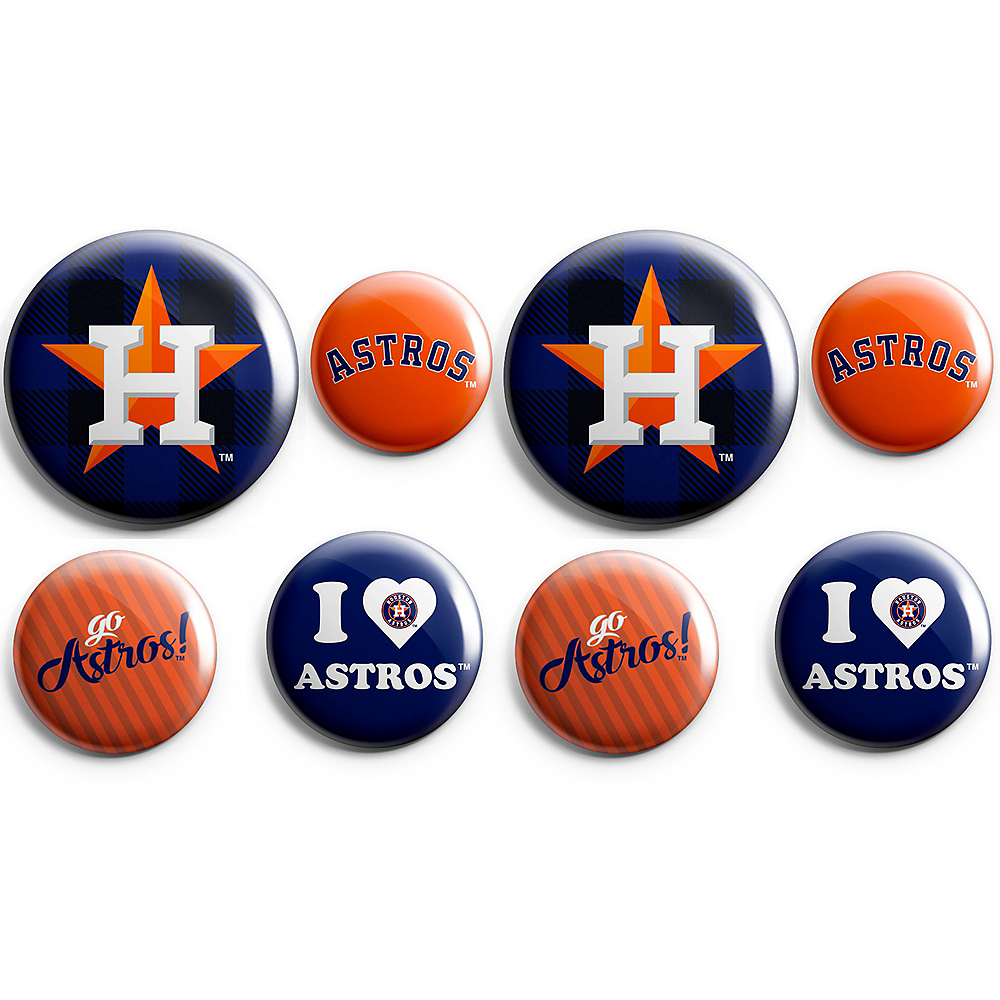 Houston Astros Buttons 8ct Image #1