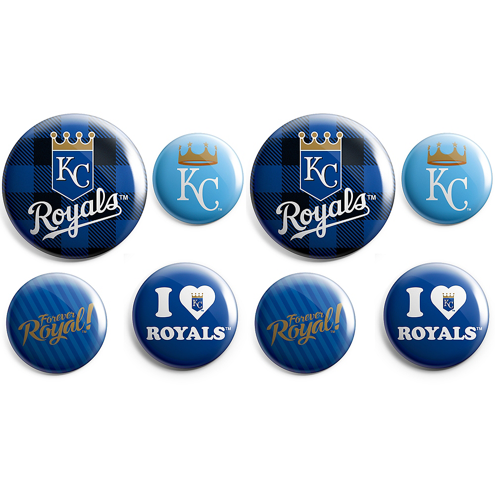 Nav Item for Kansas City Royals Buttons 8ct Image #1