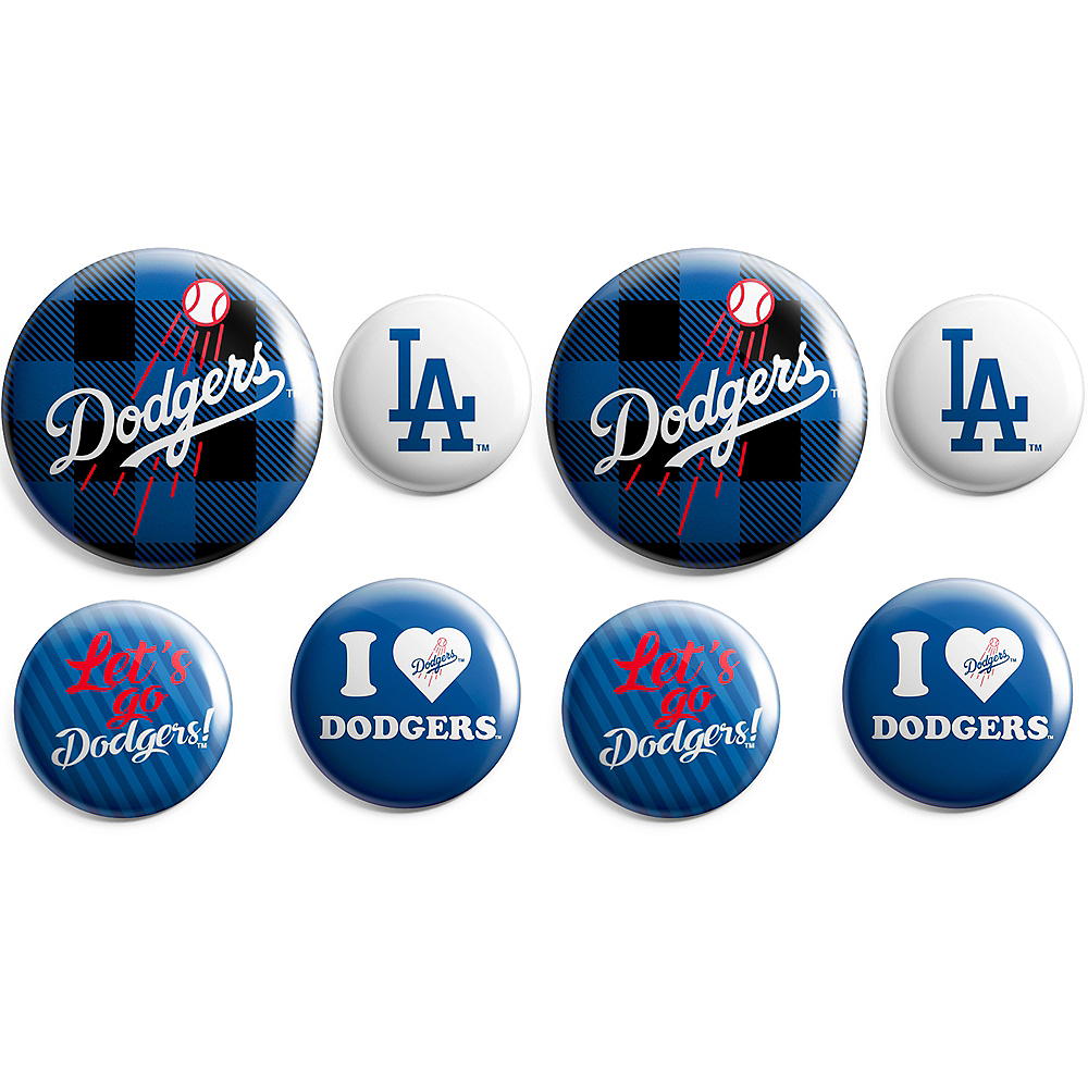 Los Angeles Dodgers Buttons 8ct Image #1