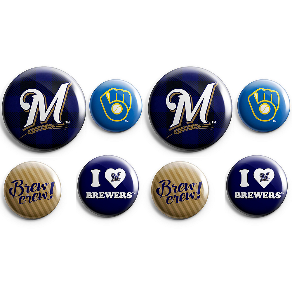 Milwaukee Brewers Buttons 8ct Image #1