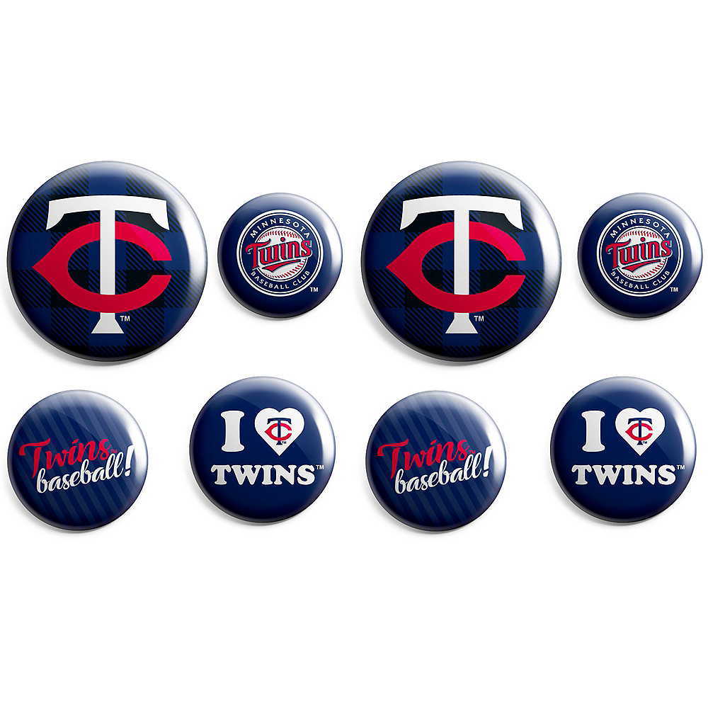 Minnesota Twins Buttons 8ct Image #1