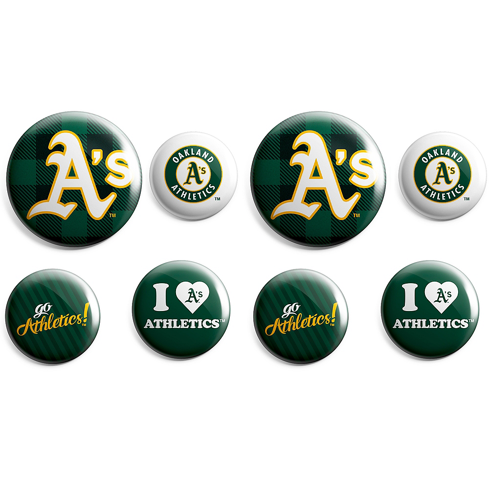 Oakland Athletics Buttons 8ct Image #1