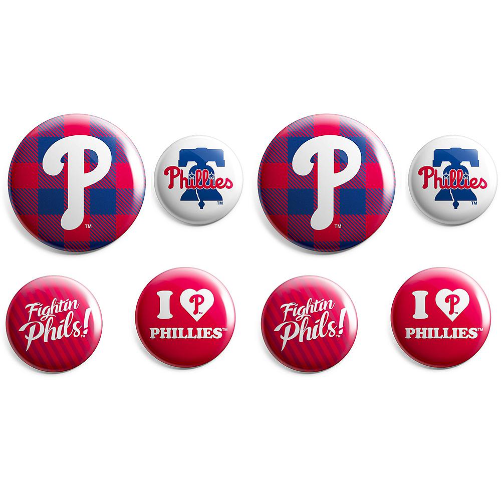 Philadelphia Phillies Buttons 8ct Image #1