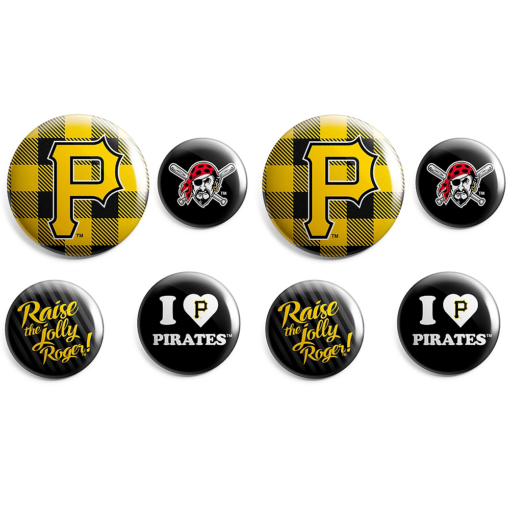 Pittsburgh Pirates Buttons 8ct Image #1