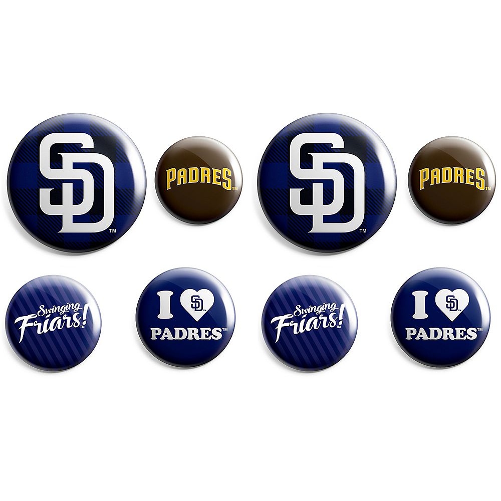 Nav Item for San Diego Padres Buttons 8ct Image #1