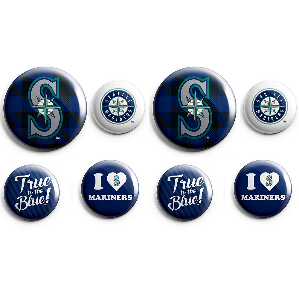 Seattle Mariners Buttons 8ct Image #1