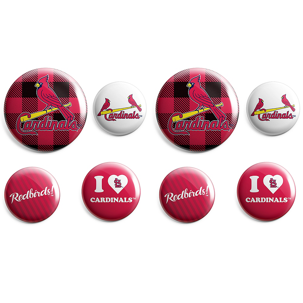 St. Louis Cardinals Buttons 8ct Image #1