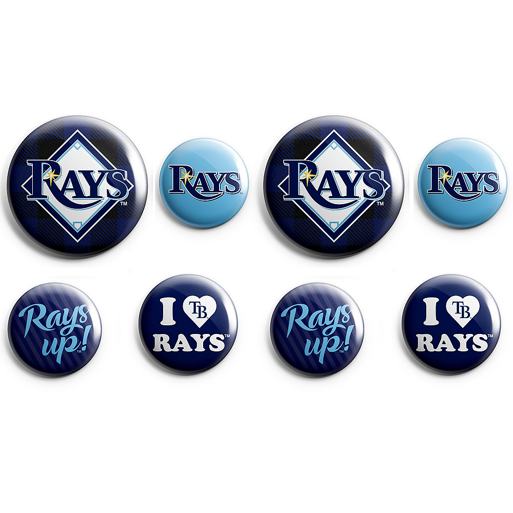 Tampa Bay Rays Buttons 8ct Image #1