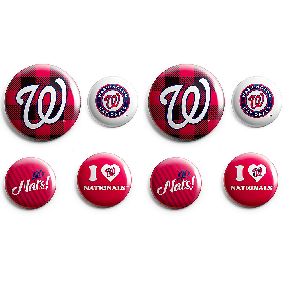 Washington Nationals Buttons 8ct Image #1
