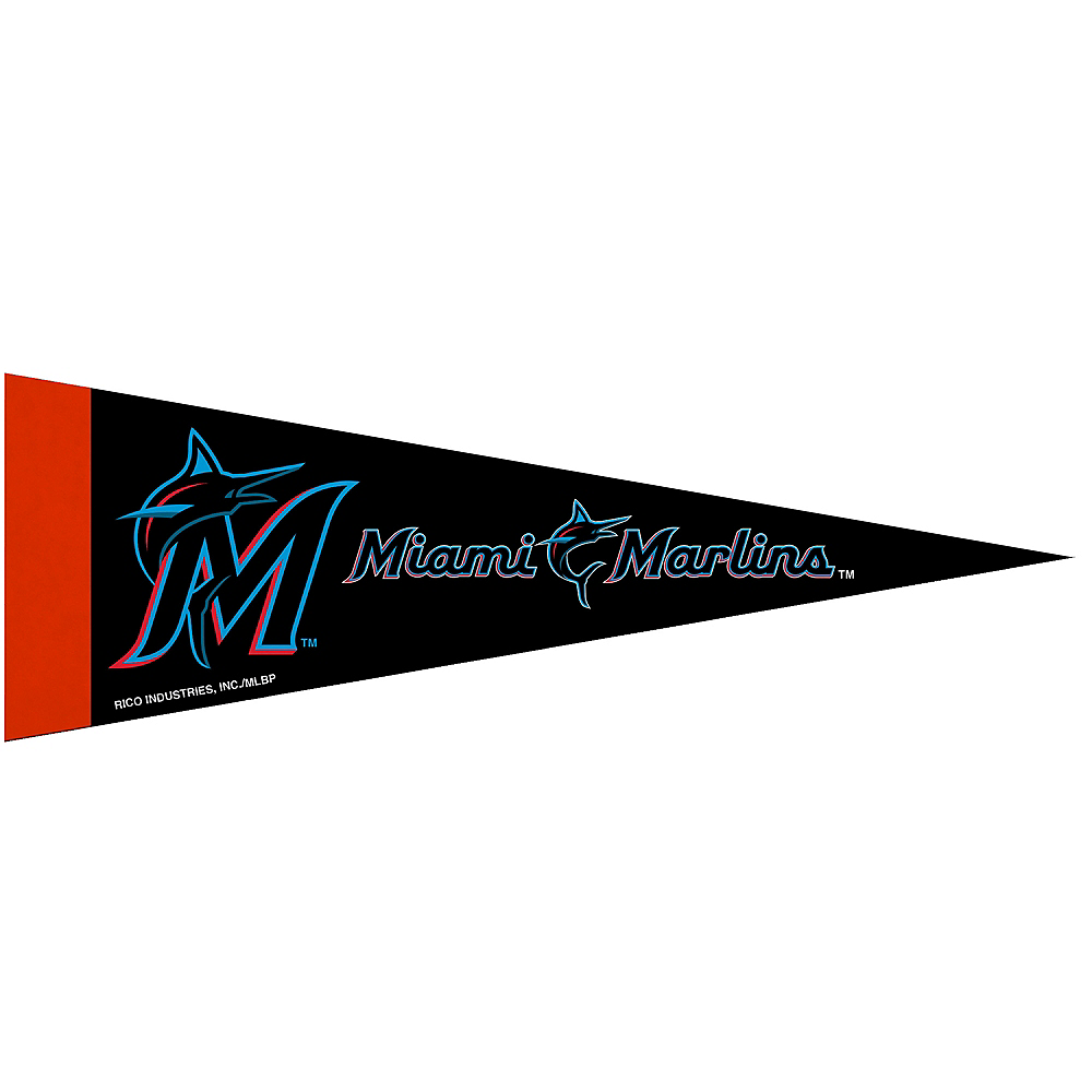 Nav Item for Small Miami Marlins Pennant Flag Image #1