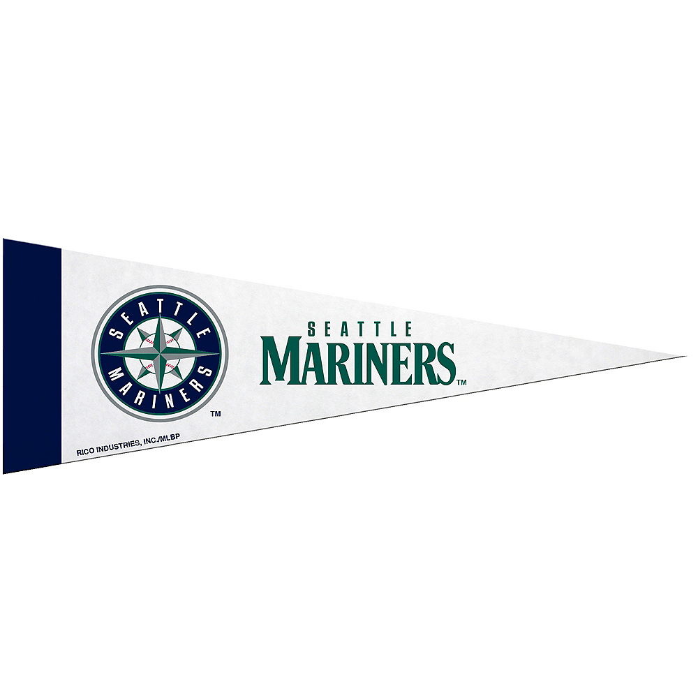Nav Item for Small Seattle Mariners Pennant Flag Image #1