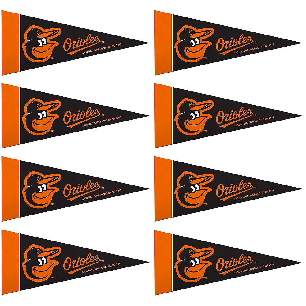 Mini Baltimore Orioles Pennant Flags 8ct Image #1