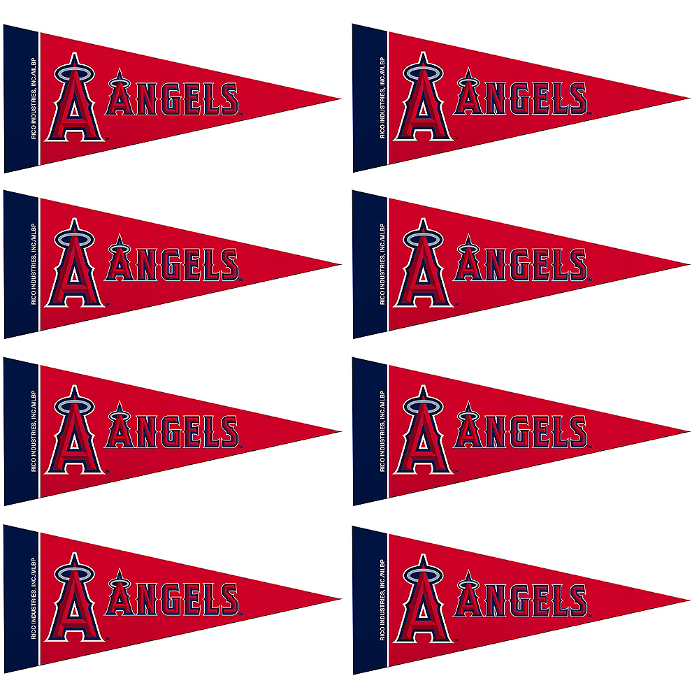 Mini Los Angeles Angels Pennant Flags 8ct Image #1