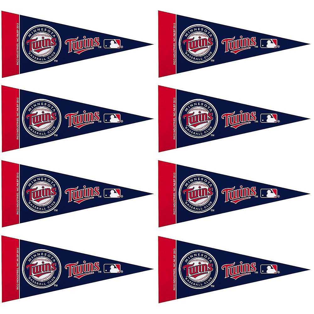 Mini Minnesota Twins Pennant Flags 8ct Image #1