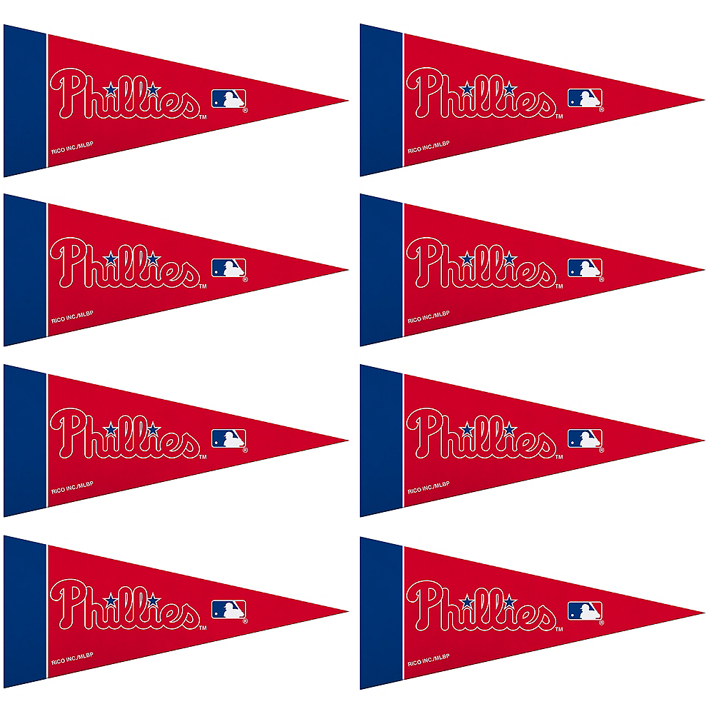 Mini Philadelphia Phillies Pennant Flags 8ct Image #1