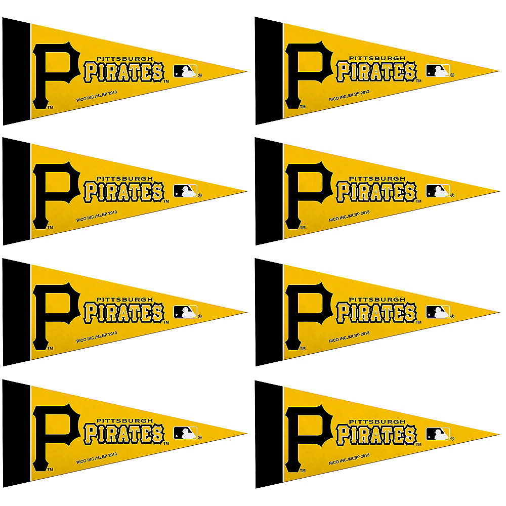 Mini Pittsburgh Pirates Pennant Flags 8ct Image #1
